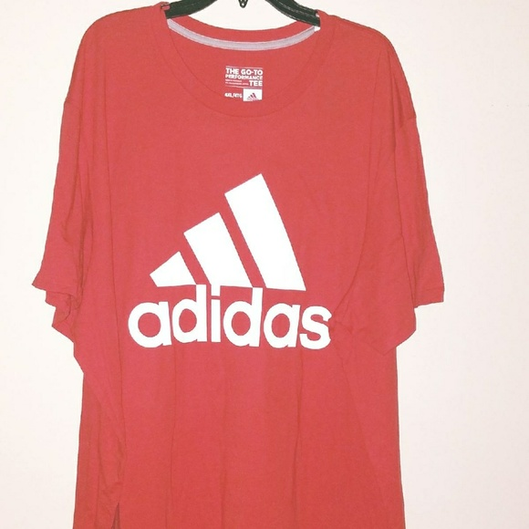 neue auswahl sale suche nach original NEW Adidas The Go-to mens 3XL T-Shirt Red Big Tall NWT
